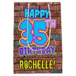 [ Thumbnail: 35th Birthday: Fun, Urban Graffiti Inspired Look Gift Bag ]