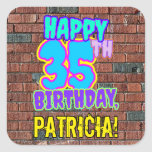 [ Thumbnail: 35th Birthday – Fun, Urban Graffiti Inspired Look Sticker ]
