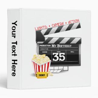 35th Birthday Hollywood Movie Party 3 Ring Binder