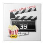 35th Birthday Hollywood Movie Party Ceramic Tiles