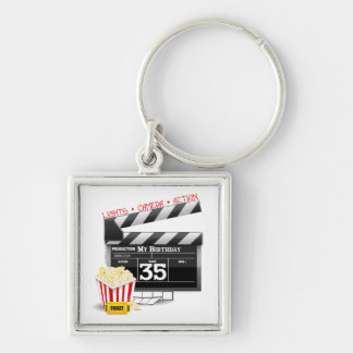 35th Birthday Hollywood Movie Party Keychains