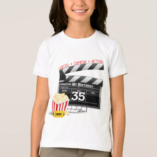 35th Birthday Hollywood Movie Party T-Shirt