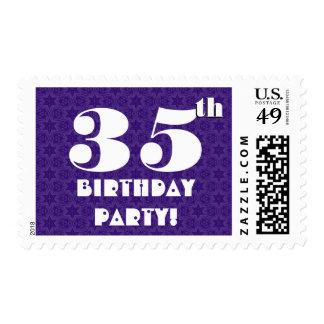35th Birthday Party Big Bold Purple White W1235 Postage