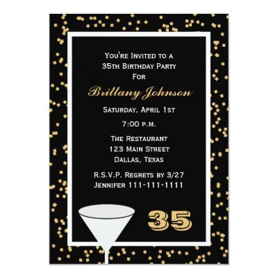 Fabulous At 35 35th Birthday Party Invitation Zazzle Com
