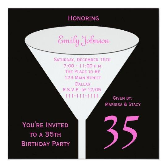 35th birthday party invitation 35th toast zazzle 35th birthday party invitation 35th toast filmwisefo