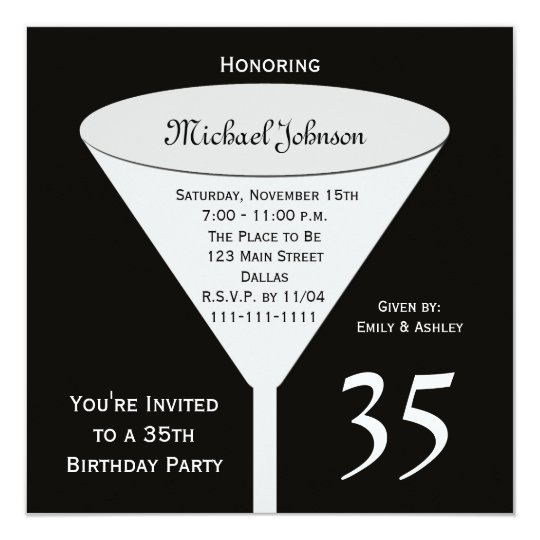 35th birthday party invitation a toast for 35 zazzle 35th birthday party invitation a toast for 35 filmwisefo