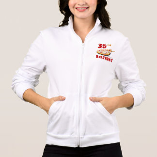 35th Birthday Pizza Party Printed Jacket