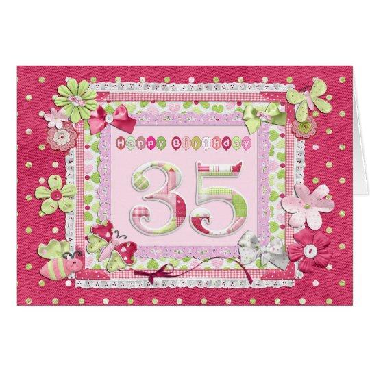 35th birthday scrapbooking style card