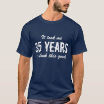 35th Birthday t shirt for men | Customizable age