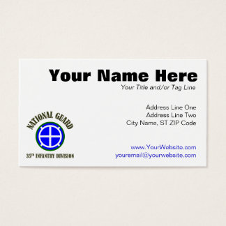 35th Infantry Div | National Guard Business Card