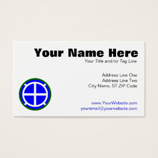 35th Infantry Division Business Card