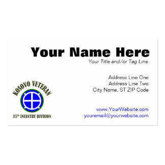35th Infantry Division - Kosovo Double-Sided Standard Business Cards (Pack Of 100)