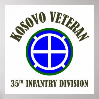 35th Infantry Division - Kosovo Poster