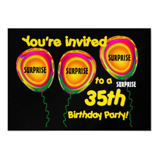 35th SURPRISE Birthday Party Invitation Template