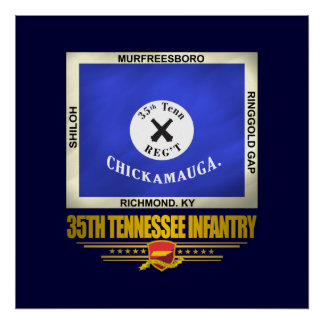 35th Tennessee Infantry Poster