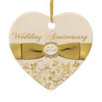 35th Wedding Anniversary Christmas Ornament