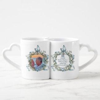 35th Wedding Anniversary COUPLE Mugs PHOTO Names