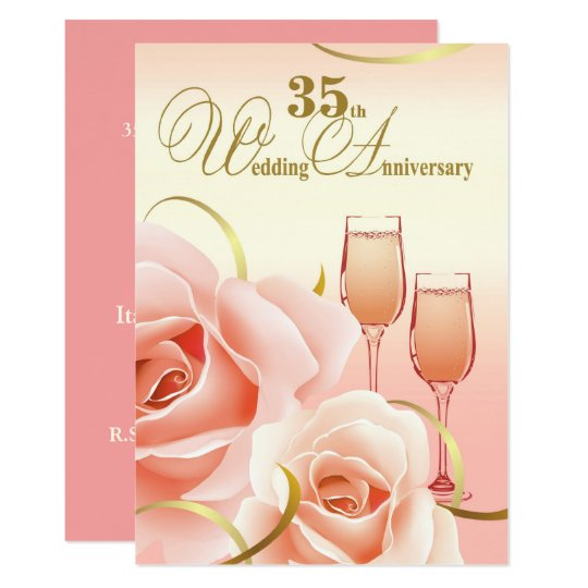 35th Wedding Anniversary Party Invitations