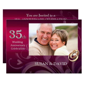 35th Anniversary Party Invitations Announcements Zazzle