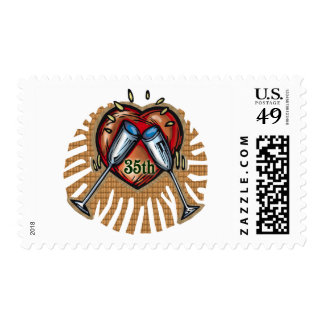 35th wedding anniversary t postage stamp