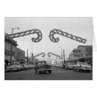 35to Calle, Oak Park, Sacramento, CA, 1959 Tarjeta De Felicitación