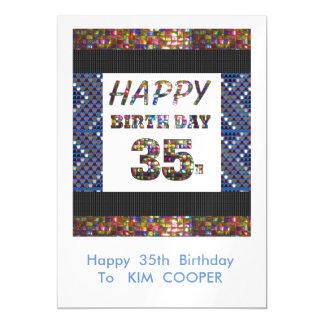 35to cambio del cumpleaños o msg felices 35 del invitaciones magnéticas