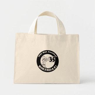 35to Camisetas y regalos del cumpleaños Bolsa Tela Pequeña