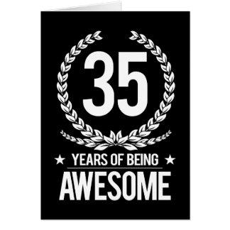35to Cumpleaños (35 años de ser impresionantes) Tarjeta De Felicitación