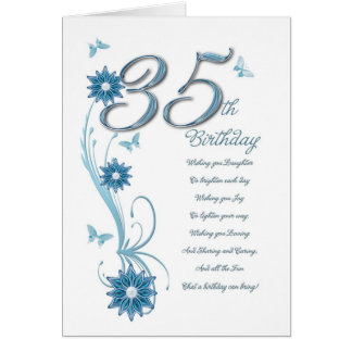 35to cumpleaños en trullo con las flores y la tarjetas