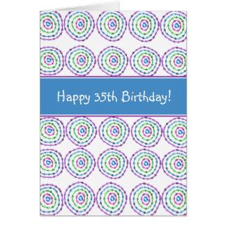 ¡35to cumpleaños feliz! Tarjeta