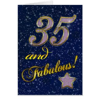 35to cumpleaños para alguien fabuloso felicitación