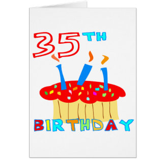 35to Cumpleaños Tarjeta De Felicitación