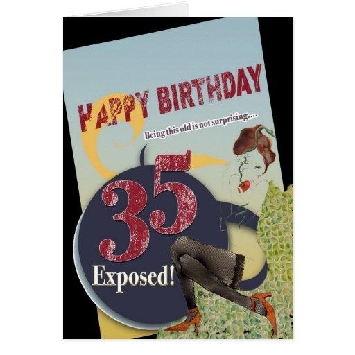 35to edad avanzada llevada cumpleaños feliz 35 de  tarjeta de felicitación