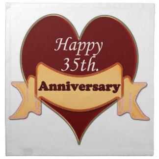 35to feliz. Aniversario Servilletas De Papel