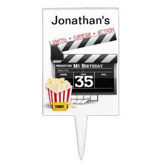 35to Fiesta de la película de Hollywood del cumple Decoraciones Para Tartas