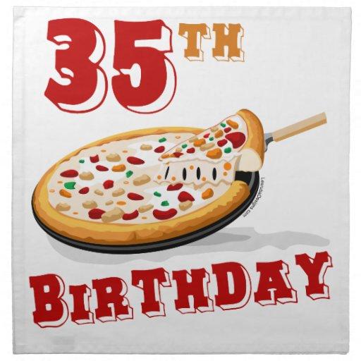 35to Fiesta de la pizza del cumpleaños Servilletas De Papel
