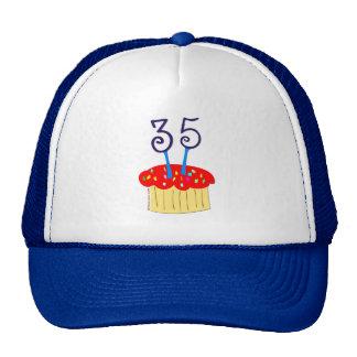 35to Gorra del cumpleaños