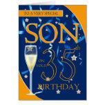 35to Hijo del cumpleaños - vidrio de Champán