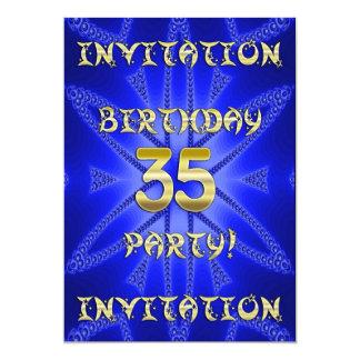 35to Invitación de la fiesta de cumpleaños Invitación 12,7 X 17,8 Cm