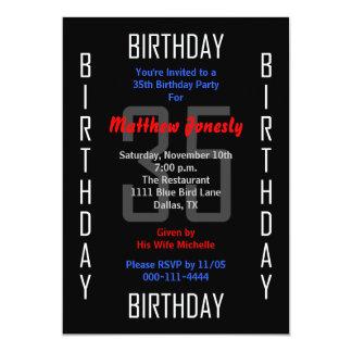 35to Invitación de la fiesta de cumpleaños - 35 Invitación 12,7 X 17,8 Cm