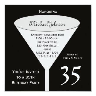 35to Invitación de la fiesta de cumpleaños una