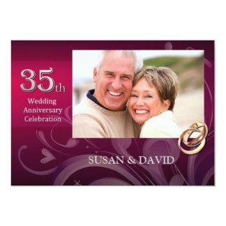 35to Invitaciones de la fiesta de aniversario del Invitación 12,7 X 17,8 Cm
