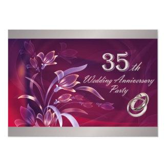 35to Invitaciones de la fiesta de aniversario del Anuncio Personalizado