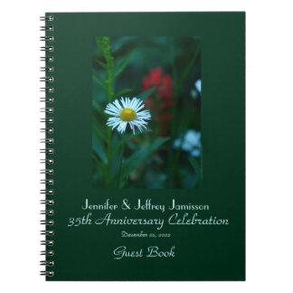 35to Libro de visitas de la fiesta de aniversario, Libreta Espiral