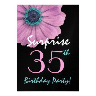 """35to Margarita rosada bonita del cumpleaños de la Invitación 5"""" X 7"""""""