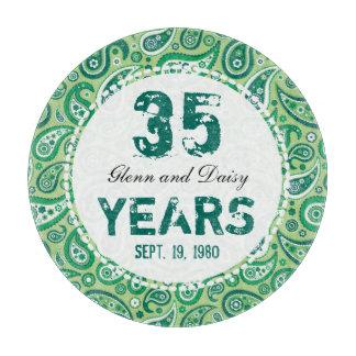35to Modelo de Paisley del aniversario de boda del Tablas Para Cortar