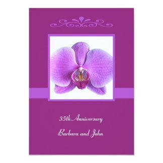 35to Orquídea de la invitación del aniversario de