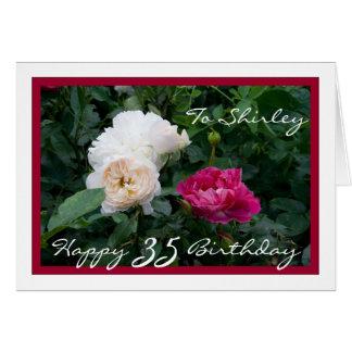 35to personalizable feliz del cumpleaños con los tarjeta de felicitación