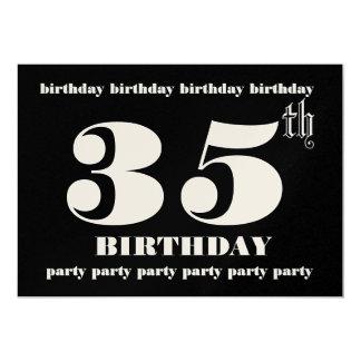 35to Plantilla de la invitación de la fiesta de Invitación 12,7 X 17,8 Cm