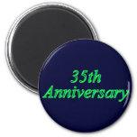 35to Regalos del aniversario de boda Imanes